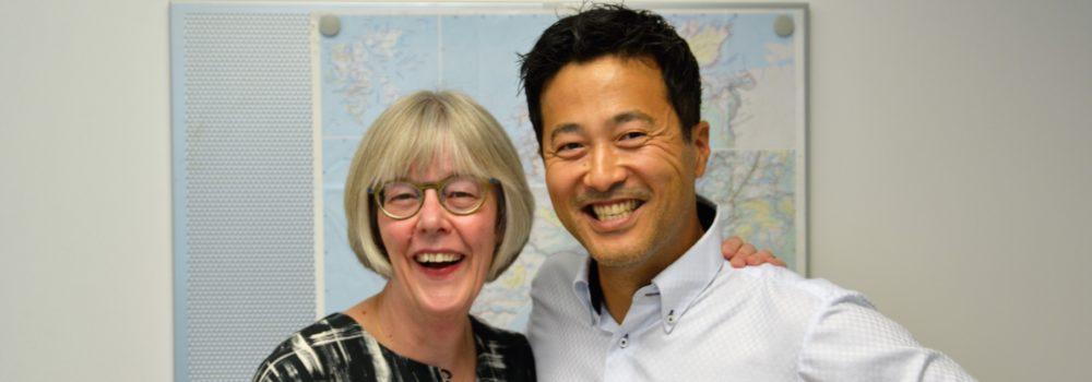 foto av Magne W. Fredriksen og statsekretær Anne Grethe Erlandsen